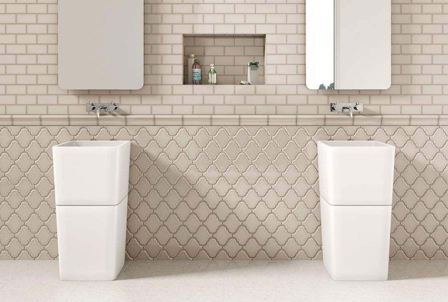 1.Oceanside_Glass_Tile_ArabesquePattern_Beige_Bathroom_DoubleVanity.jpeg